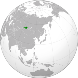 Location of the Tuvan People's Republic (modern boundaries)