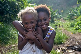 Melanesians - Image: Two Vanuatu girls