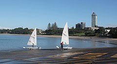 Two sailboats on the main Takapuna boat ramp.jpg