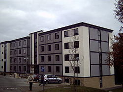 Tyler Court, Block C, is part of a new halls of residence built in 2004.