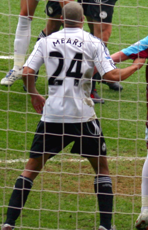 Tyrone Mears - Mears playing for Derby County in 2008