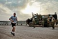 U.S. Army Master Sgt. Aaron J. Cardoza, left, participates in the Sand to Sand charity run at Multinational Base Tarin Kowt, Uruzgan province, Afghanistan, Aug. 17, 2013 130817-O-MD709-078-AU.jpg