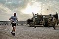 U.S. Army Master Sgt. Aaron J. Cardoza, left, participates in the Sand to Sand charity run at Multinational Base Tarin Kowt, Uruzgan province, Afghanistan, Aug. 17, 2013 130817-O-MD709-078-AU.jpg