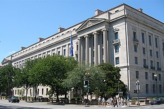 United States Department of Justice - Image: U.S. Department of Justice headquarters, August 12, 2006