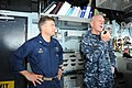 U.S. Navy Vice Adm. Scott H. Swift, right, the commander of the U.S. 7th Fleet, discusses fleet operations with the crew aboard the guided missile cruiser USS Chosin (CG 65) using an intercommunication system as 130528-N-GR655-159.jpg