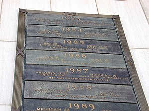 1987 Rose Bowl - Rose Bowl records at the Hall of Champions