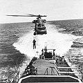 UH-2C Seasprite lifts sailor from USS Wallce L. Lind (DD-703), circa in 1970.jpg