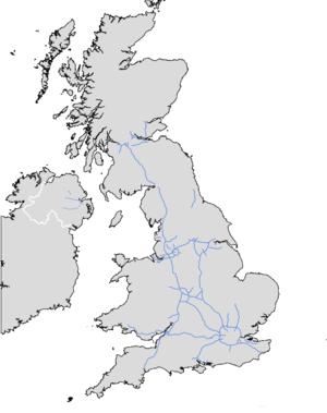 M5 motorway (Northern Ireland) - Image: UK motorway map M5 (NI)