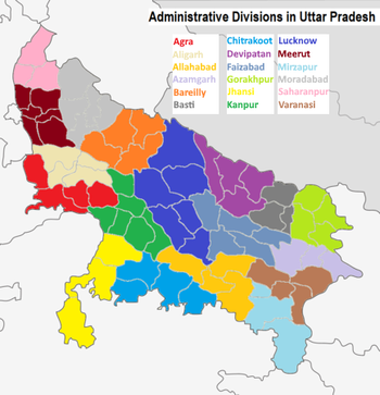 Map Of World Bosses In The Division.Administrative Divisions Of Uttar Pradesh Wikipedia