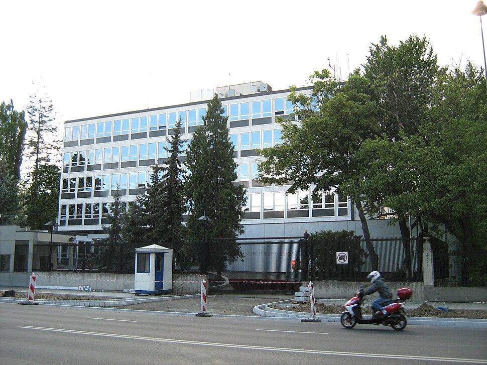 USA Embassy in Warsaw Poland