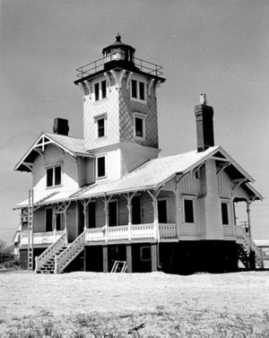 Hereford Inlet Light - Undated United States Coast Guard photograph
