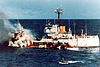 USCGC Citrus being rammed by the MV Pacific Star
