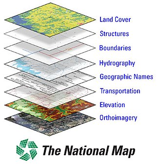 The National Map - USGS image showing layers of The National Map