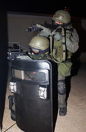 Special reaction team - A USMC Military Police Special Reaction Team, using the MP5-N in 2004