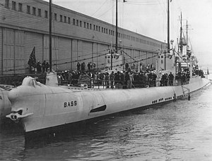 Lynde D. McCormick -  USS ''Bass'' (SS-164) (right), former V-2