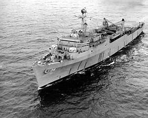 USS Anchorage (LSD-36) - Image: USS Anchorage (LSD 36) running trials in 1969