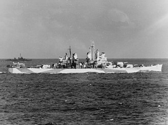 USS Canberra - Canberra underway as part of Task Force 38 in 1944