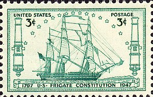 Topical stamp collecting - Ships on Stamps USS ''Constitution''