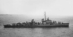 USS Fechteler (DD-870) - USS Fechteler in April 1946.