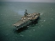 USS Forrestal about one month after 1967 fire