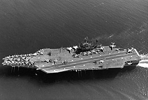 USS John F. Kennedy (CV-67) - John F. Kennedy on her initial shakedown in December 1968