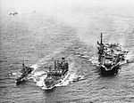 USS Midway (CVA-41) with oiler and destroyer in 1962.jpg