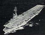 USS Siboney (CVE-112) underway at sea, circa in February 1956.jpg