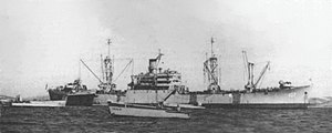 USS Vermilion (AKA-107) off Vieques, Puerto Rico, in 1949 (80-G-445319)