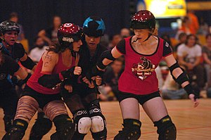 DC DemonCats team up to thwart an opponent fro...