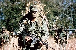 Patrol cap - U.S. Army Rangers wearing patrol caps, 1986
