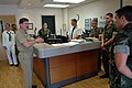 US Navy 050310-N-0962S-030 Master Chief Petty Officer of the Navy (MCPON) Terry Scott speaks to a group of Hospital Corpsmen manning the emergency room at U.S. Naval Hospital Guantanamo Bay, Cuba.jpg