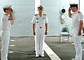 US Navy 070404-N-8560S-001 French Navy Rear Adm. Alain Hinden, left, relieves Royal Navy Commodore Bruce Williams, right, as Commander, Task Force (CTF) 150, and will report to Commander, U.S. Naval Forces Central Command-U.S.jpg