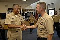 US Navy 081009-N-9818V-190 Master Chief Petty Officer of the Navy (MCPON) Joe R. Campa Jr. speaks with Navy Recruiters.jpg