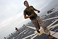 US Navy 090724-M-3699S-006 Lance Cpl. Rialmo, assigned to Combat Logistics Battalion 11, participates in a session of physical training.jpg