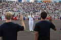 US Navy 090919-N-6220J-003 Rear Adm. Mark Fox, commander of the Naval Strike and Air Warfare Center, conducts a swearing-in ceremony for 27 local Delayed Entry Program enrollees at the Reno Air Races.jpg