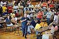 US Navy 100503-N-7227H-031 Chief of Naval Operations (CNO) Adm. Gary Roughead answers questions from Sailors and their families at Naval Support Activity Mid-South in Millington, Tenn.jpg
