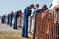 US Navy 110716-N-NT881-144 Members of the U.S. Navy flight demonstration team, the Blue Angels, greets the public and signs autographs after a Blue.jpg