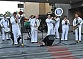 US Navy 110728-N-JY929-139 The Navy Band Southwest, Blue Jackets Brass Band, plays Anchors Aweigh during a special concert at the Hollywood and Hig.jpg