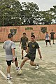 US Navy 111127-N-ZR315-440 U.S. Marines assigned to Special Purpose Marine Air Ground Task Force play soccer with members of the Guatemalan special.jpg