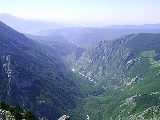 A1 (Bosnia and Herzegovina) - Mostarska Bijela valley in Prenj massif - controversial route of A1 Vc