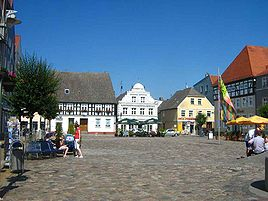 Historical market square of Ueckermünde