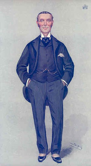 Ughtred Kay-Shuttleworth, 1st Baron Shuttleworth - Caricature by Spy (Leslie Ward) in Vanity Fair, August 1904