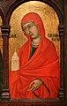 Ugolino di nerio, madonna col bambino e santi (cleveland), 1320 ca. 06.jpg