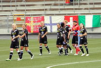 Umeå IK before the match 1.JPG