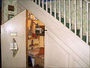 Places in Harry Potter - Under the stairs, No 4 Privet Drive