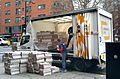 Unloading the London Evening Standard, Chancery Lane Stn, Holborn, Nov 2014.jpg