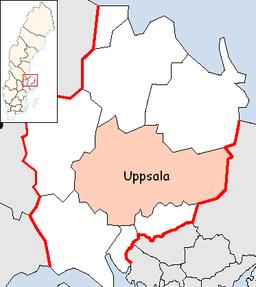 Uppsala kommunes situation i Uppsala amt