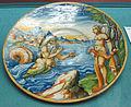 Urbino, piatto con glauco e scilla, da ovidio, 1570 ca.JPG