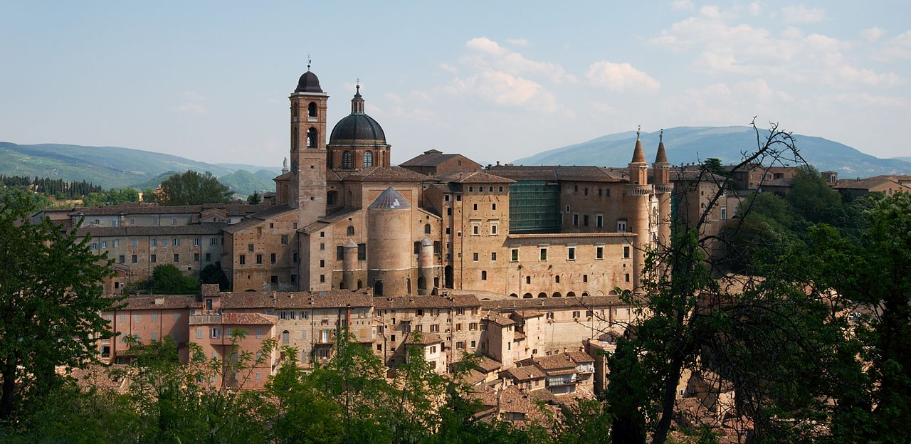 Urbino, Palazzo Ducale. The town centre of Urbino is a Unesco World Heritage Site