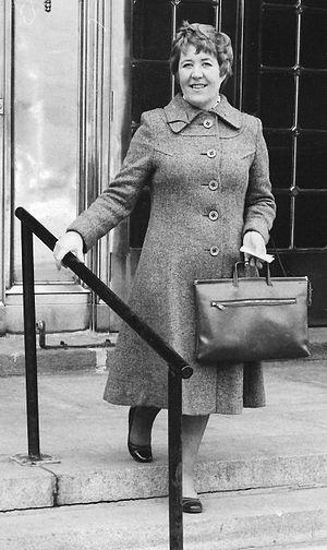 Ursula Appolloni - Ursula Appolloni in front of her office, Confederation Building, Parliament Hill, Ottawa, in 1974